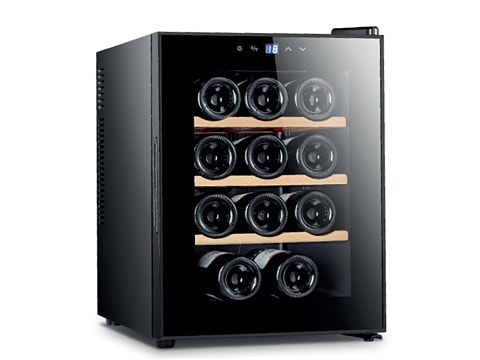 ตู้แช่ไวน์ ประตูกระจกแบน<br>33 ลิตร (12 ขวด)