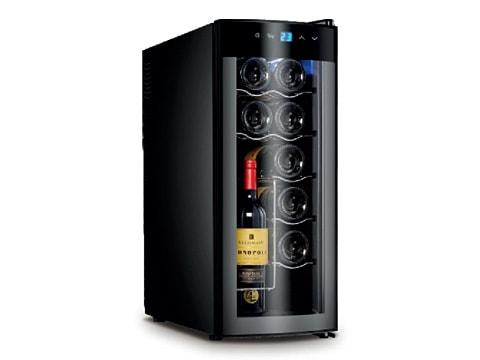 ตู้แช่ไวน์ ทรงสูง ประตูกระจกโค้ง<br>35 ลิตร (12 ขวด)