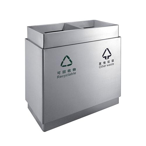 ถังขยะพื้นที่ส่วนกลาง ถังขยะแบ่ง 2 ช่อง