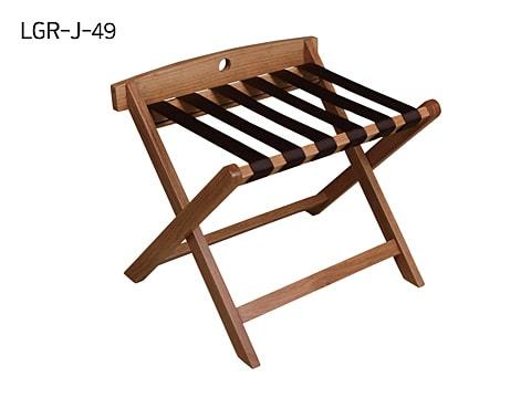 โต๊ะวางกระเป๋าไม้