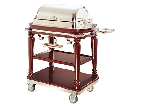 รถเข็นเสิร์ฟ วางหม้ออุ่นอาหาร (Buffet Cart)