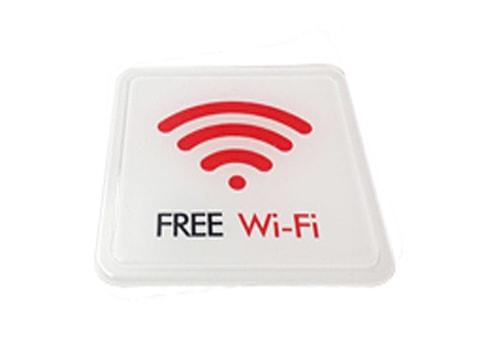 ป้ายสัญลักษณ์ Free Wi-Fi