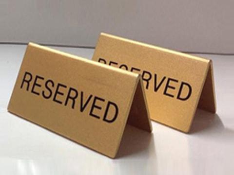 ป้ายสัญลักษณ์ Reserved